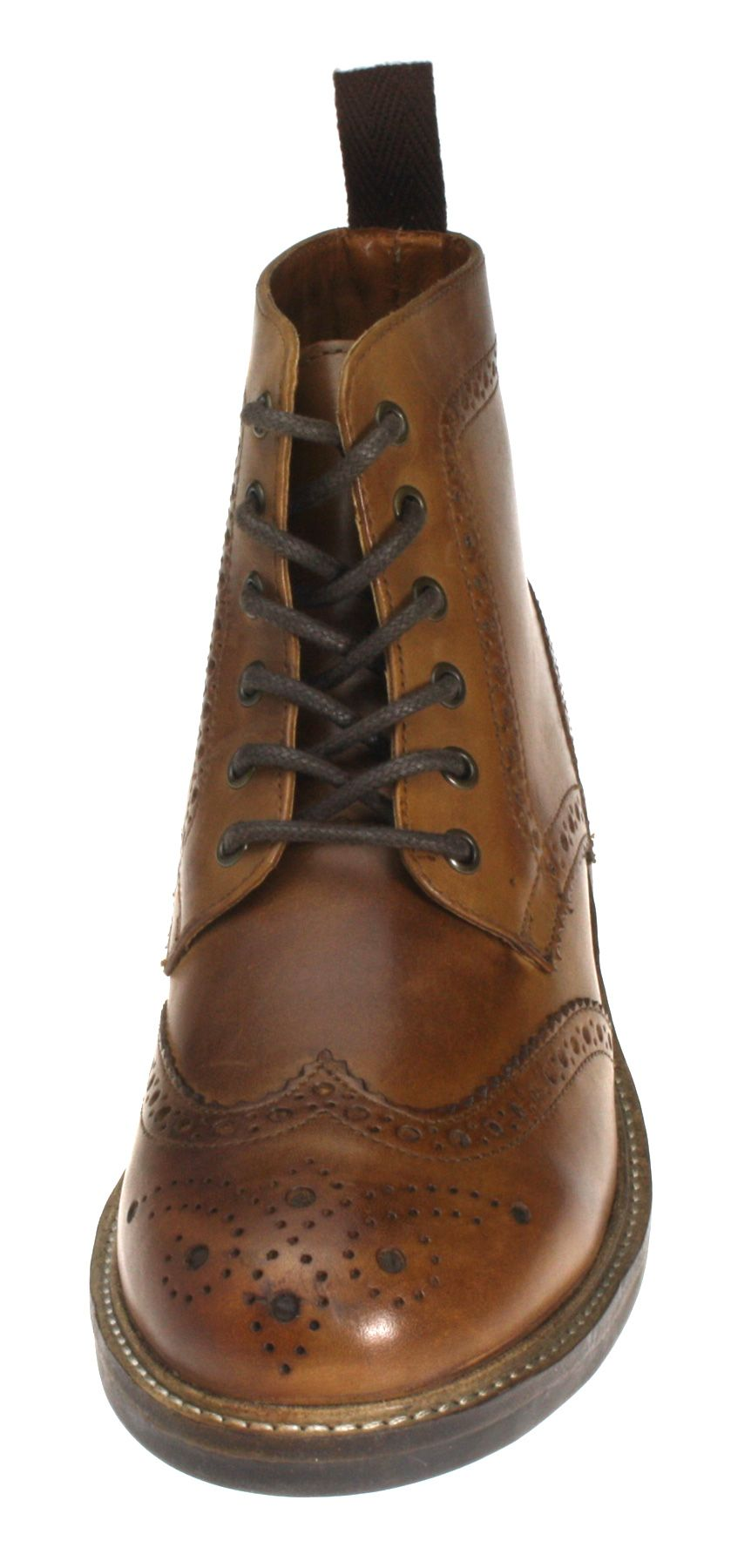 e98f06053e9 Red Tape Devlin High Quality Cleated Real Leather Lace Up Brogue ...